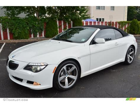 2008 bmw 650i alpine white 2008 bmw 6 series 650i convertible exterior