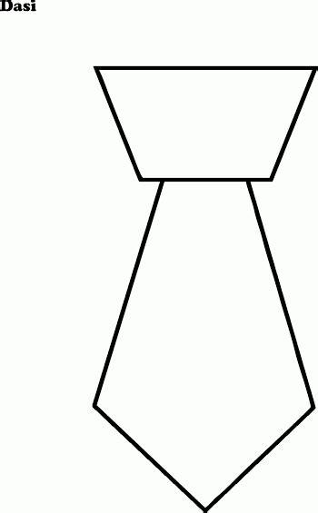 Mewarnai Gambar Dasi Sederhana - Contoh Anak PAUD