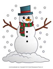 Free snowman clipart template amp printable coloring pages for kids