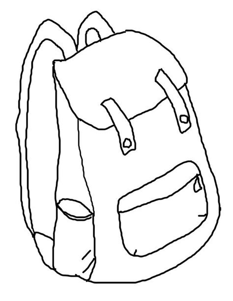 backpack coloring sheet az coloring pages