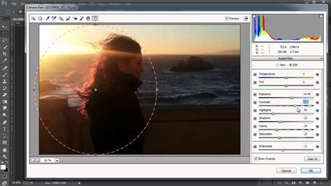 tutorial photoshop raw camera raw radial filter photoshop cc tutorial youtube