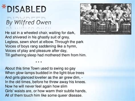 boy on a swing poem analysis quot disabled quot by wilfred owen igcse anthology