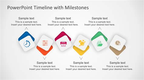 milestone template powerpoint free milestone shapes and timeline powerpoint