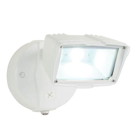 all pro white outdoor integrated led small single