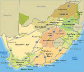 Map South Africa by Gallery For Gt South African City Map