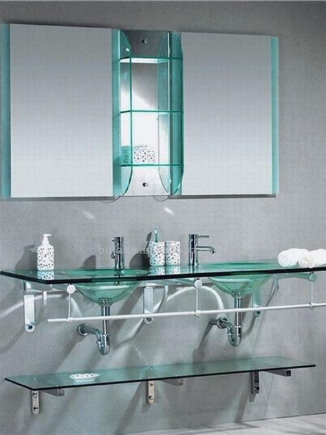 Glass Shelving For Bathrooms 26 Lastest Bathroom With Glass Shelves Eyagci