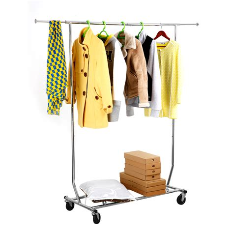 Rolling Clothes Rack by Heavy Duty Commercial Grade Clothing Garment Rolling