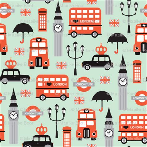 pattern making london london city travel icon umbrella big ben and red bus