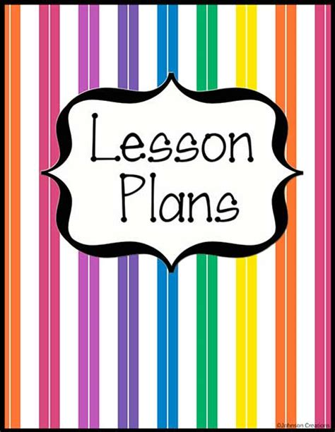 free printable lesson plan cover page lesson plans ee link party invitations ideas