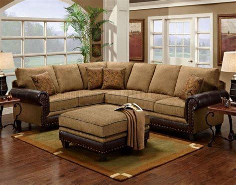 mocha sectional sofa mocha fabric classic sectional sofa w optional ottoman