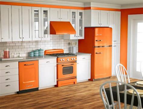 retro kitchen furniture 2018 cuisine orange 50 id 233 es d am 233 nagement stimulantes