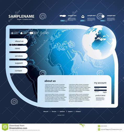 business template design business website design template stock photo image 27511870