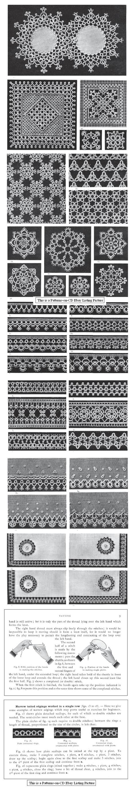 antique pattern library tatting 1017 best images about tatting patterns on pinterest