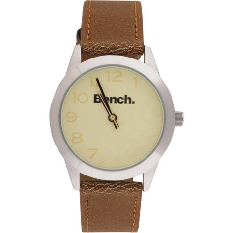 bench watches for women bench women s tan strap watch clothing thehut com