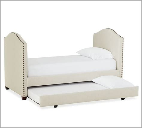 Upholstered Daybed With Trundle Raleigh Upholstered Daybed With Trundle Modern Daybeds By Pottery Barn