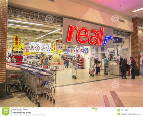 layout supermarket giant real supermarket entrance editorial photo image 24974681