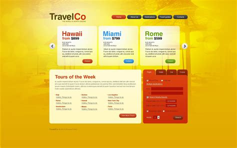 travel agency psd template 54172