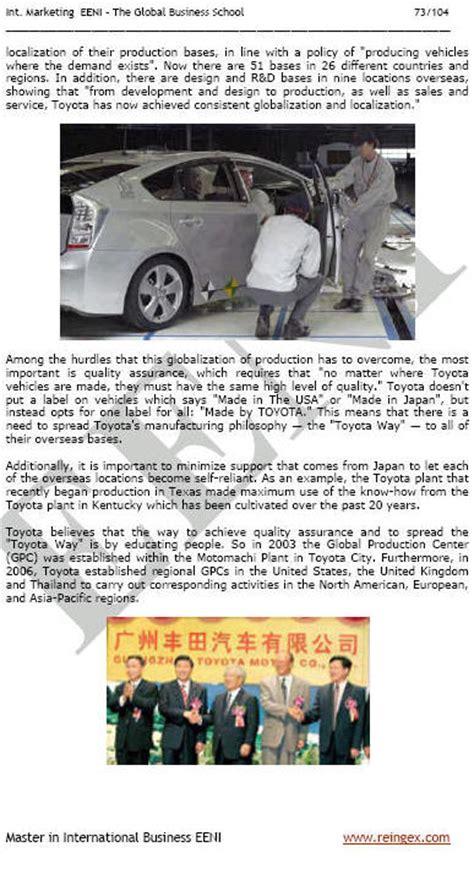 Toyota Marketing Strategy Marketing Plan For Toyota Motor Company Running