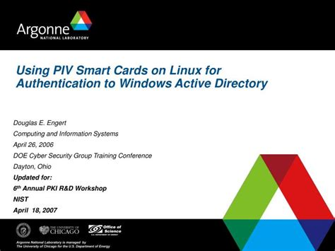 linux tutorial powerpoint presentation ppt using piv smart cards on linux for authentication to