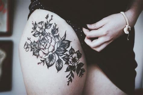 Calf Skin Rug Rose Thigh Tattoo Favething Com
