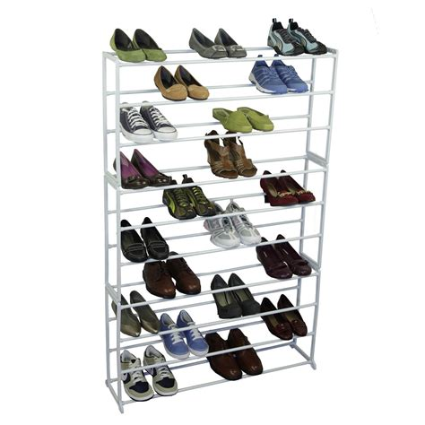 shoe storage 50 pairs 50 pair free standing shoe organizer rack in shoe racks