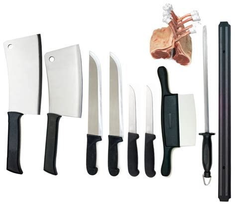 butchers knife set butcher shop knife set by dolomiten inox