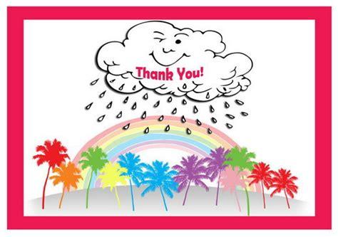 printable rainbow thank you cards rainbow thank you cards birthday printable