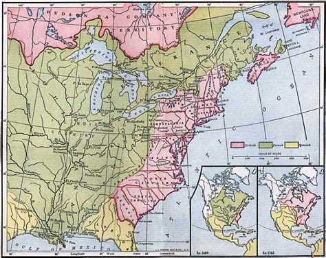 america map in 1754 posts and forts in louisiana and new
