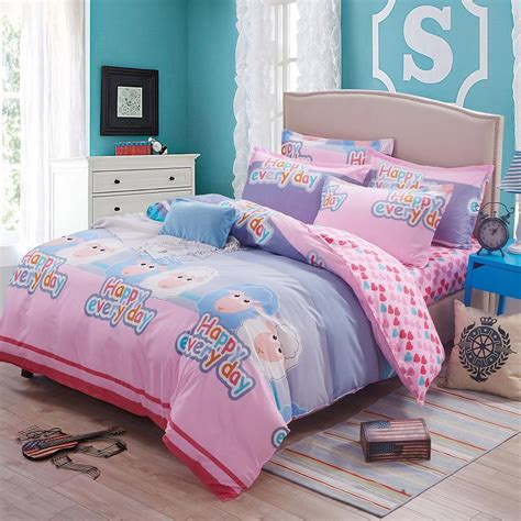 cute twin comforter sets cute bedding sets 4pcs cartoon cute sheep printed kids