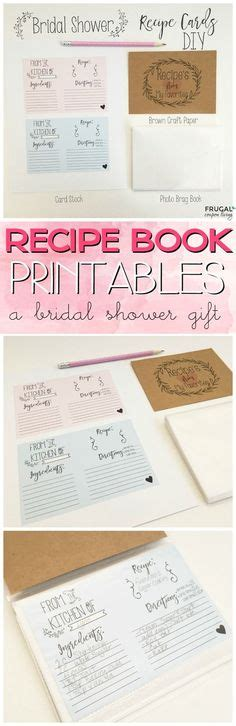 bridal shower recipe book template free printable cookbook mesa s place page recipe templates free printables wall