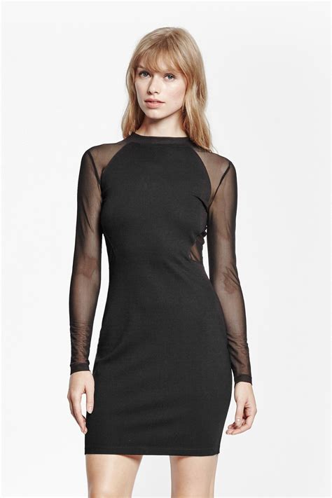 the dress french connection the london mesh dress in black lyst