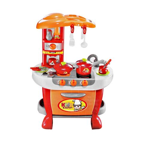 Mainan Anak Kitchen Set Pizza And Cake Muffin Playset 6680 kitchen set mainan anak toys kuya