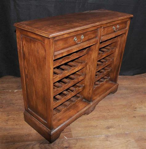 Wine Buffet Cabinet by Oak Wine Server Sideboard Buffet Cabinet Cellar