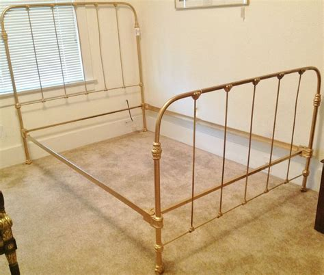 c 1920 antique cast iron gold painted bed frame ebay