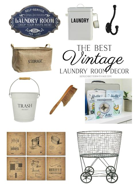 How To Decorate A Laundry Room The Best Vintage Laundry Room Decor Giveaway So Much Better With Age