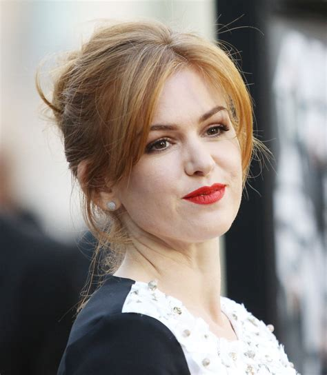 medium hair split down middle hair isla fisher 60 trendy bangs for all face shapes and