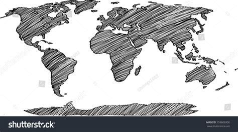 earth map vector world map earth globe vector line stock vector 159606956