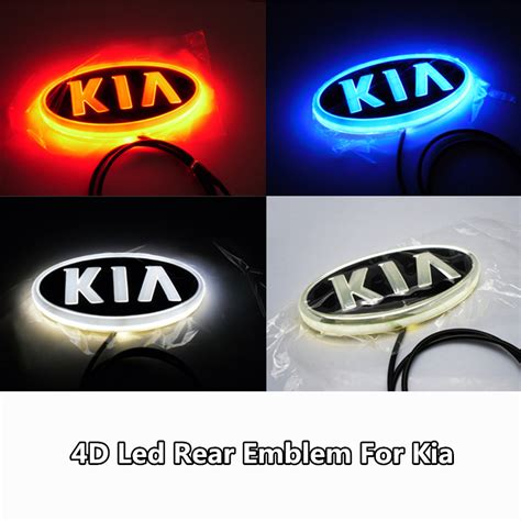 Kia K5 Logo 1pcs 4d Led Rear ᗔ Emblem Emblem Car Logo Light For Kia