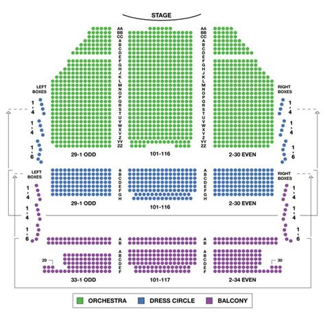 burruss seating chart lyric theatre broadway seating charts