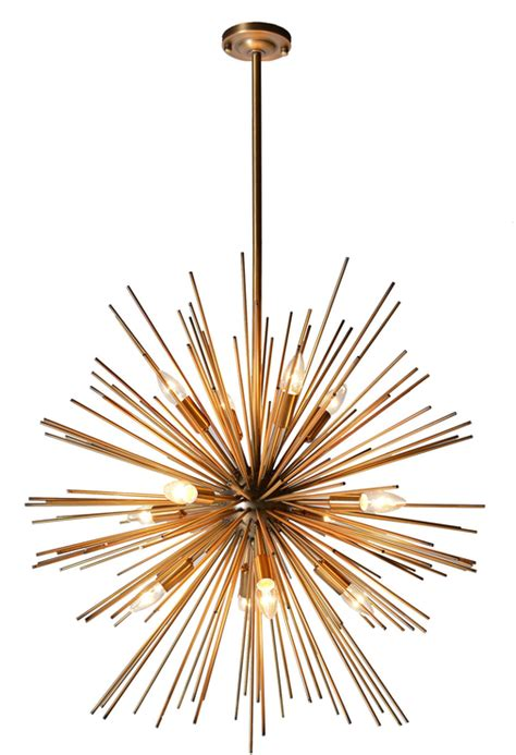 Dining Room Candle Chandelier Starburst Pendant Pendant Lights