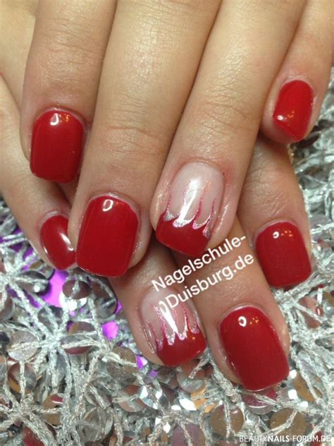Nails Rot 4717 by Nails Rot Rote N Gel F E Mit Nagellack Gel