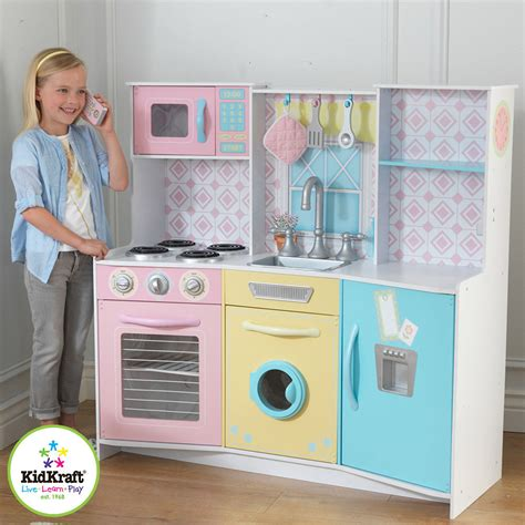 Costco Play Kitchen by New Kidkraft Sweet Treats Pastel Wooden Play Kitchen