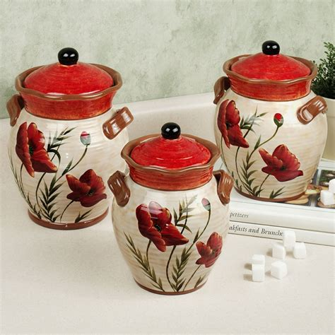 country kitchen canister sets xpressionportal poppies kitchen canister set kitchen theme ideas