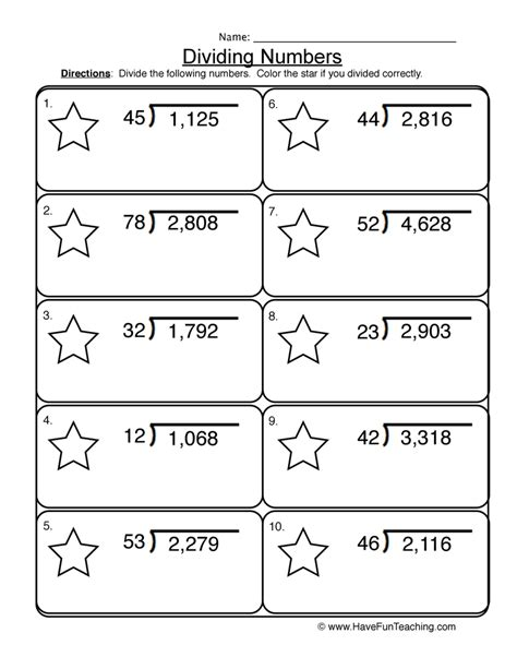 2 And 3 Digit Division Worksheets by Fifth Grade Worksheets Teaching