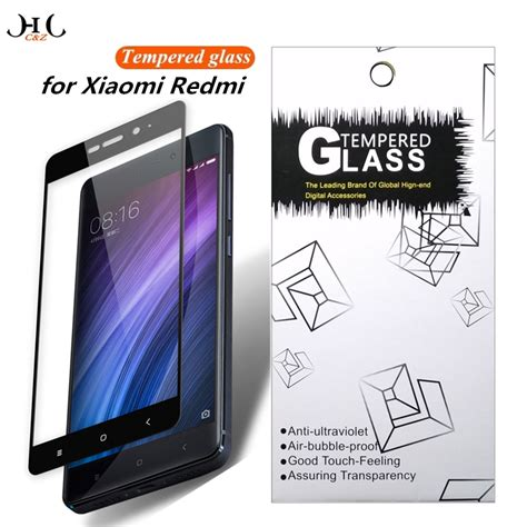Xiaomi Redmi Note K Box Tempered Glass hccz 2 5d cover tempered glass for xiaomi redmi note 4x 4 pro screen protector for xiaomi