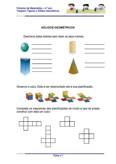 figuras geometricas quarto ano atividades com s 243 lidos geom 233 tricos mais educa 231 227 o pinterest
