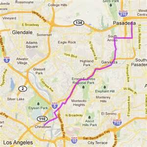 Los Angeles River Bike Path Map by Arroyo Seco Bikeway