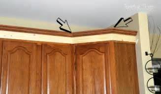 How To Cut Crown Molding Angles For Kitchen Cabinets Adding Height To The Kitchen Cabinets Tempting Thyme