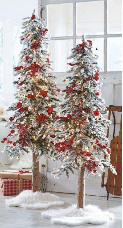 grandin roadtrees christmas artificial snow tipped pre lit alpine trees grandin road decor tree decorations
