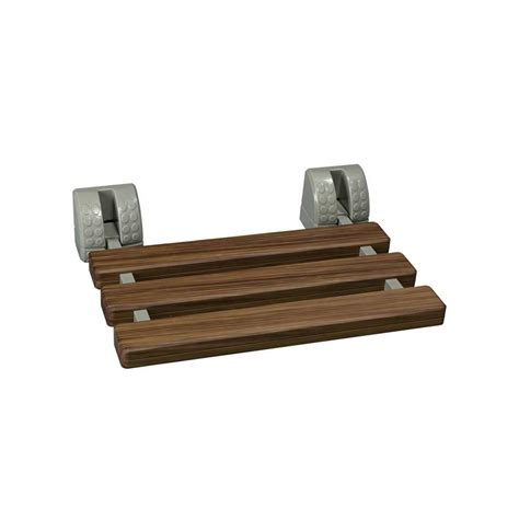 fold down teak shower bench glacier bay fold down tub and shower seat in faux teak tb